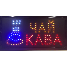 Вывеска светодиодная торговая Contour LED табличка реклама ЧАЙ КАВА (КОФЕ) на украинском языке 48х25 см