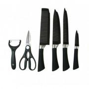 Набор кухонных ножей Zepter 6 предметов с антибактериальным покрытием