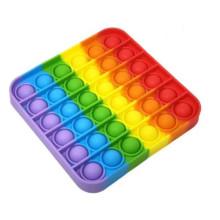 Игрушка-антистресс POP IT пупырка OBY TOYS Квадрат mix Разноцветный